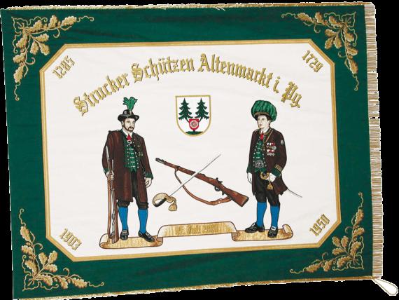 Fahnen, Schuetzenkompanie, Struckerschuetzen, Altenmarkt